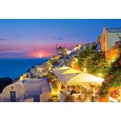 Santorini v noci, Řecko
