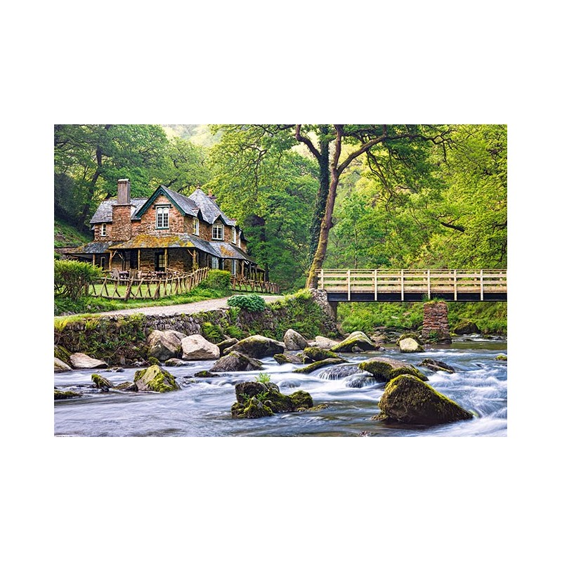Dům u potoka, Exmoor National park, Anglie